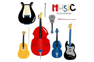 Vector stringed musical instruments
