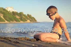 Child enjoying summer holidays and