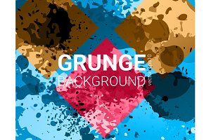 Vector grunge banner. Color concept
