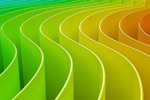 rainbow geometric curved colorful
