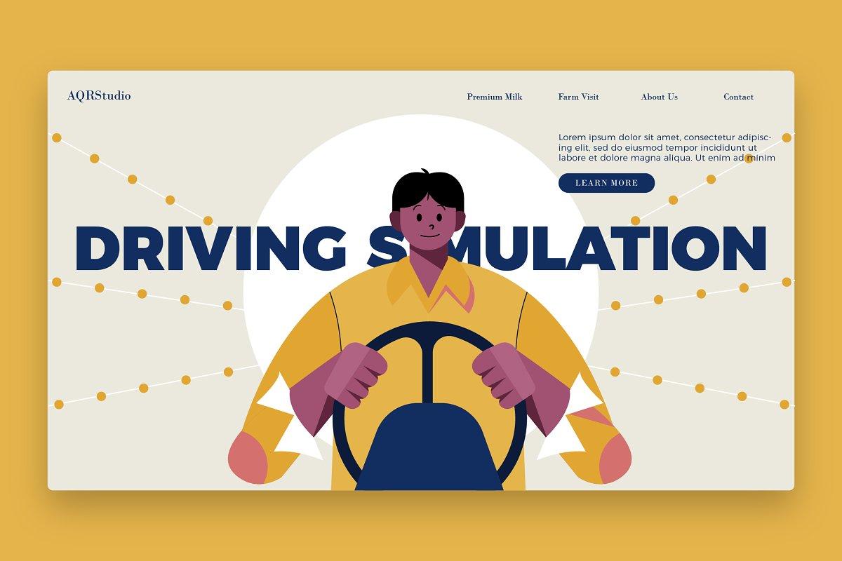 Simulation - Banner & Landing page