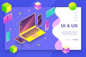 UI Desktop - Banner & Landing page