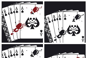Bloody Deadman Hand Playing Cards