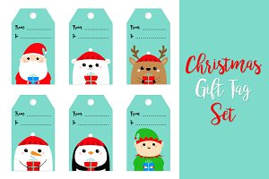 Christmas gift tag set.