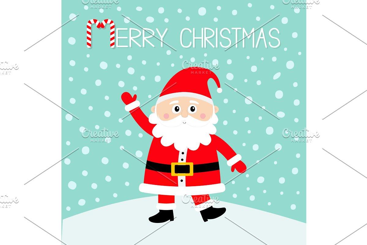 06561cfb6a Merry Christmas. Santa Claus on snow ~ Illustrations ~ Creative Market