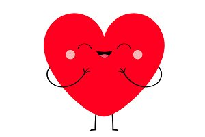 Red heart icon. Happy Fase. Love