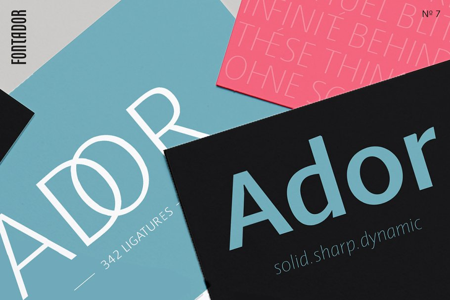 Ador in Sans-Serif Fonts