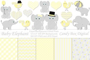 Yellow Baby Elephant Combo Pack