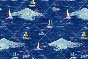 Island Pattern - Seamless Print