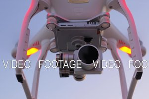 Drone with camera flying and