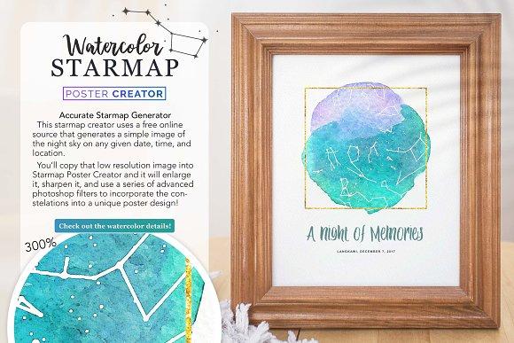 Watercolor Starmap Poster Creator