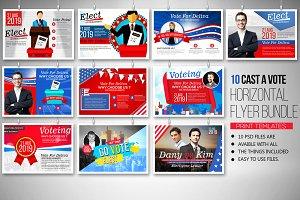 Elections 10 Horizontal Flyer Bundle