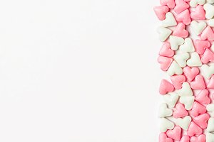 Valentine's card candy hearts