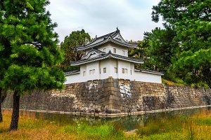 Nijo castle with water, Kyoto, Japan