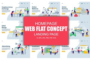 Modern Flat Landing Page Template