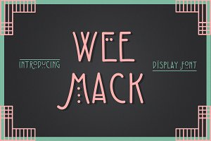 The Wee Mack Display Font