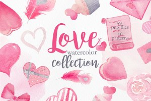 Watercolor Pink Love Collection