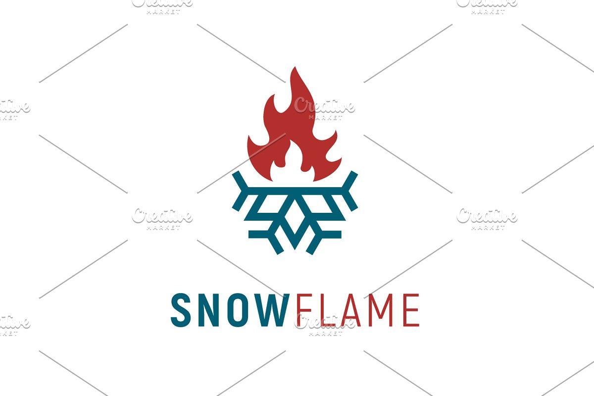 ef12a5e32 Plumb &Heat, Flame & Snowflake logo ~ Logo Templates ~ Creative Market