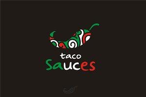 Mexican Pepper Chili Taco Sauce Logo
