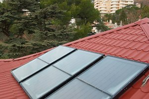 Solar cells on the roof