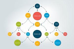Flowchart diagram, chceme, infograph