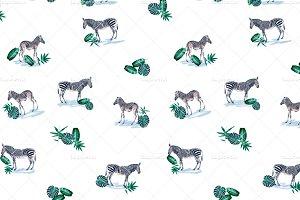 Zebra Animal Print -Seamless Pattern