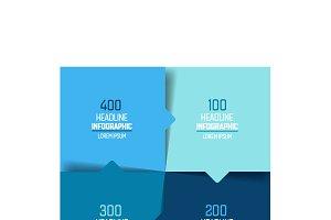 4 part chart, scheme, infographics