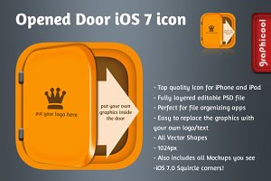 iOS 7 app icon - Opened Door