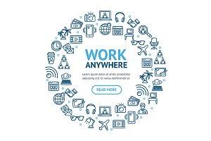 Work Freelance Signs Round Design