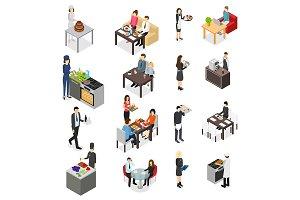 Restaurant Cafe or Bar 3d Set