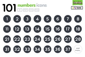 101 Numbers Icons - Jolly - Black