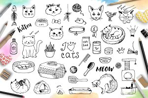 Doodle Cats and Pet Accessories