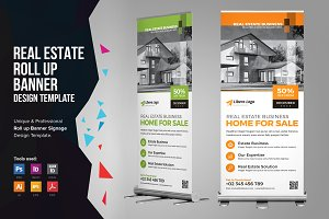 Real Estate Rollup Banner Signage v1