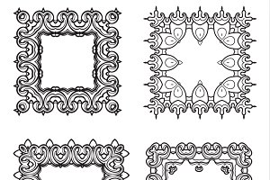 4 decorative frames