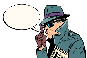 secret agent finger gun gesture