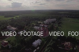 Flying over Lukino Village with