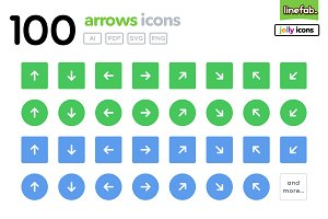 100 Arrows Icons - Jolly