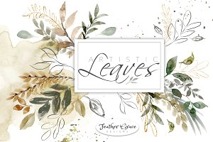 Watercolor Leaves & Washes