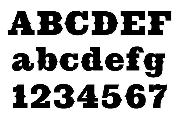 cowboy western slab serif fonts creative market