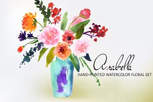 Arabella- Watercolor Clip Art Set