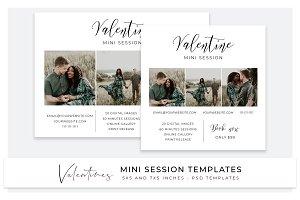 Valentine mini session templates