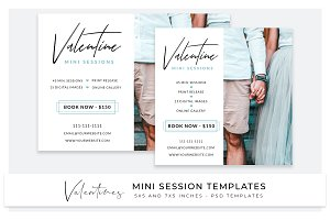 Valentine photo session templates