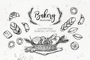 Handsketched Bakery set