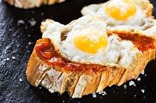 Eggs with sobrada tapas