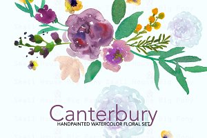 Canterbury- Watercolor Clip Art Set