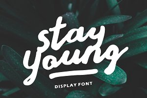 Stay Young - A Display Font