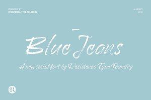 Blue Jeans Script 50% off
