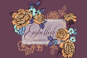 Embellish Roses- Vector and PNG File
