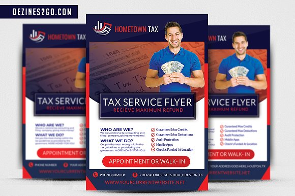 Income Tax Flyer Template Psd Flyer Templates Creative Market