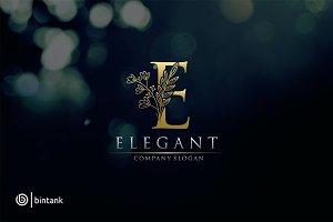 Elegant - Gold E Letter Logo